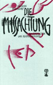 Cover of: Die Missachtung