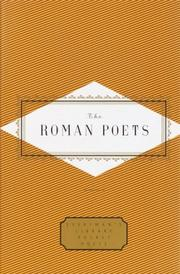 Cover of: The Roman Poets | Peter Washington