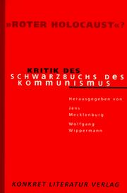 Cover of: Roter Holocaust?: Kritik des Schwarzbuchs des Kommunismus (German Edition)