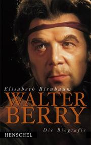 Cover of: Walter Berry
