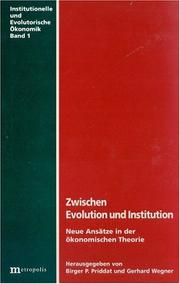 Cover of: Zwischen Evolution und Institution