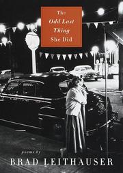 Cover of: The odd last thing she did: poems