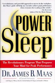 Cover of: Power Sleep