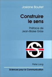 Cover of: Construire le sens