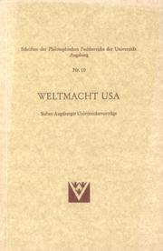Cover of: Weltmacht USA