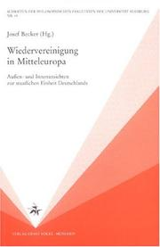 Cover of: Wiedervereinigung in Mitteleuropa