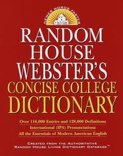 Random House Websters Concise College Dictionary