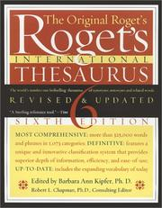 Cover of: Roget's International Thesaurus, Indexed, Sixth Edition Revised & Updated