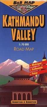 Cover of: Berndtson & Berndtson Kathmandu Valley Topographic Map (B&B Road Maps)