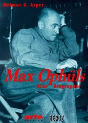 Cover of: Max Ophüls