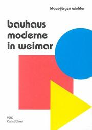 Cover of: Moderne in Weimar, 1919-1933