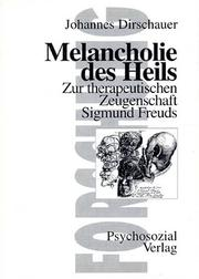 Cover of: Melancholie des Heils