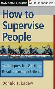Cover of: How to Supervise People