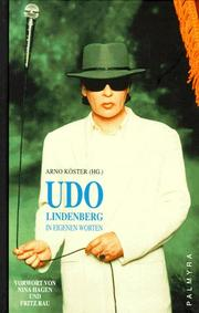 Cover of: Udo Lindenberg
