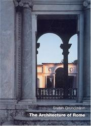 Cover of: The Architecture of Rome |