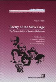 Cover of: Poetry of the Silver age | Victor Terras