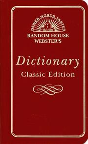 Cover of: Random House Webster's Dictionary