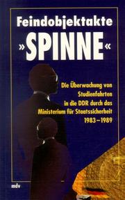 "Cover of: Feindobjekt ""Spinne"""