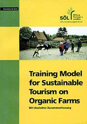 Cover of: Training model for sustainable tourism on organic farms |