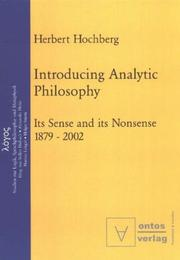 Cover of: Introducing analytic philosophy