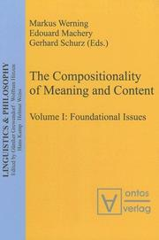Cover of: Linguistics & Philosophy, vol. 2: The compositionality of meaning and content: applications to linguistics, psychology and neuroscience