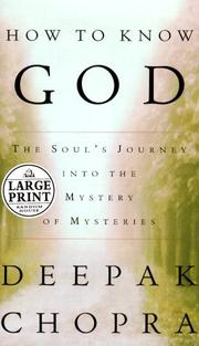 Cover of: How to know God | Deepak Chopra