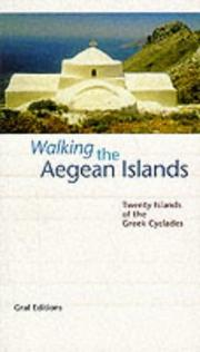 Cover of: Walking the Aegean Islands