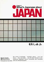 Cover of: In Search of What's Japanese About Japan