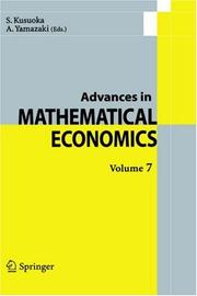 Cover of: Advances in Mathematical Economics / Volume 7 (Advances in Mathematical Economics)