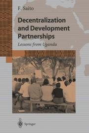 Cover of: Decentralization and Development Partnership