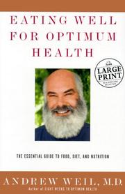 Cover of: Eating Well for Optimum Health