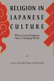 Cover of: Religion in Japanese culture |