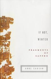 Cover of: If Not, Winter