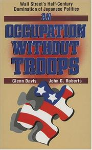 Cover of: An occupation without troops