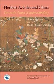 Cover of: Herbert A. Giles and China | Herbert Allen Giles