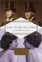 Cover of: Love speaks its name |