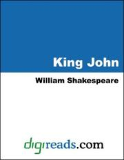 Cover of: KING JOHN by William Shakespeare