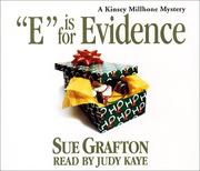 Cover of: E is for Evidence (Sue Grafton)