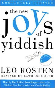 The New Joys of Yiddish by Leo Calvin Rosten