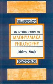 Cover of: An Introduction to Madhyamaka Philosophy