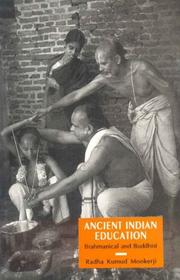 Cover of: Ancient Indian education: (Brahmanical and Buddhist)