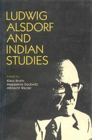 Cover of: Ludwig Alsdorf and Indian studies |