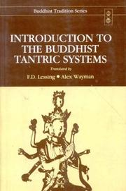 Cover of: Introduction to the Buddhist Tantric Systems (Buddhist Tradition Series, Vol 20)