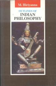 Cover of: Outlines of Indian Philosophy | M. Hiriyanna