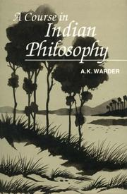 Cover of: A course in Indian philosophy