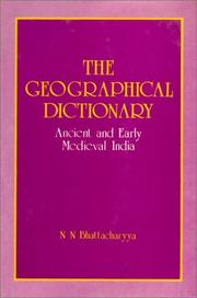 Cover of: The Geographical dictionary