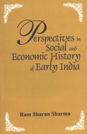 Cover of: Perspectives in social and economic history of early India