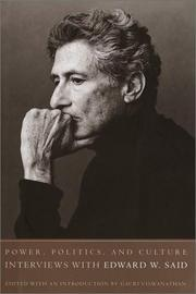 Cover of: Power, politics, and culture: interviews with Edward W. Said