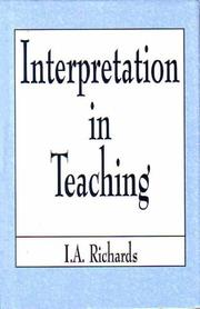 Cover of: Interpretation in Teaching