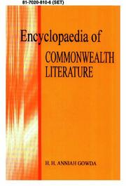 Cover of: Encyclopaedia of Commonwealth literature